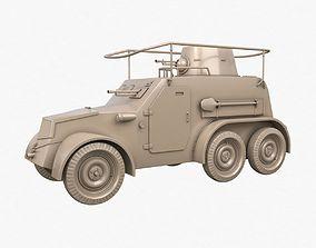OA vz 30 Armoured Car German Clay Vray german 3D