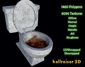 Toilet - Dirty Textured 3D asset