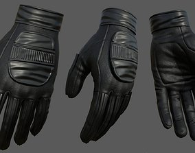 3D asset Gloves military combat soldier armor scifi low