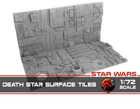3D model Death Star tiles 16x tiles to create Death Star