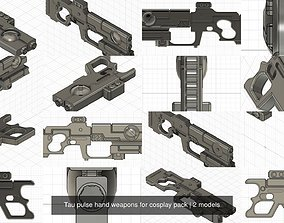 Tau pulse hand weapons for cosplay pack 3D model