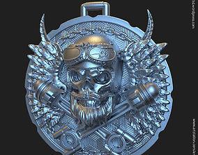 3D printable model Biker skull vol3 pendant