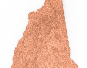 New Hampshire Relief Map 3D print model