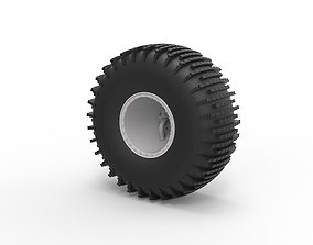 Diecast Offroad wheel 38 Scale 1 to 20 3D print model
