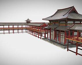 Modular Asian Temple 3D model