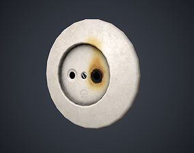 3D model Old socket two options textures