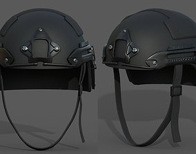VR / AR ready Helmet military combat 3d model