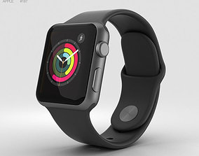 Apple Watch Series 2 38mm Space Gray Aluminum Case 3D 1