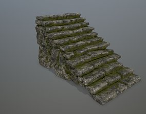 rung 3D asset game-ready Stairs