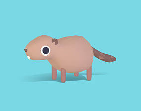 Benjo the Beaver - Quirky Series 3D asset