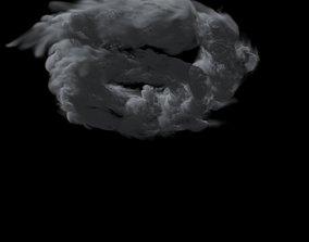 3D model animated Swirly Menacing Clouds