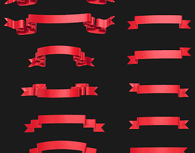 year Ribbon 3D model pack