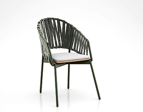 Roda PIPER Chair with armrests 3d model
