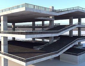Multi - Storey Car Park - Floor Parking 3D asset