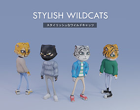 Low Poly Stylish Animal - Wildcat Pack 3D model