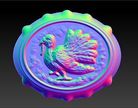 Thanksgiving Turkey Ring re-leaf 3D printable model
