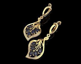 Earrings with pear 3D printable model