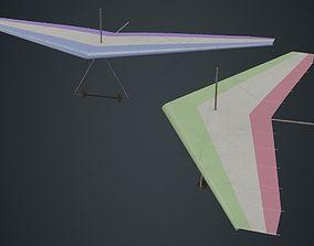 Hang Glider 1B 3D asset