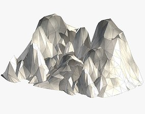 Mountain Landscape 3D model game-ready