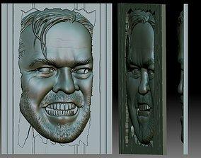 3D printable model Shining horror movie Jack Nicholson 2