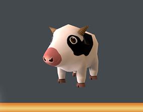 Mini Cow Cartoon 3D asset