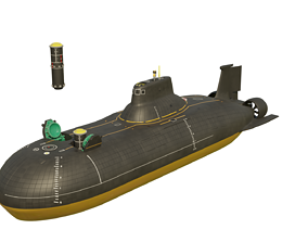 Party Animals Submarine 3D Model