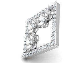 3D print model fancy beautiful flower pendants