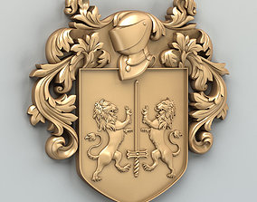 3D model Coat of arms decorative 002