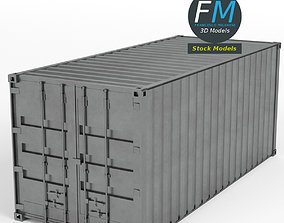 Closed shipping container 3D