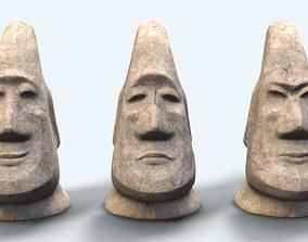 3D asset the MOAI statues