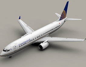 3D Boeing 737-900 Continental Airlines