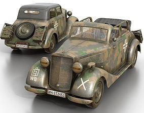Mercedes-Benz 170V Cabrio Saloon Wermacht 3D