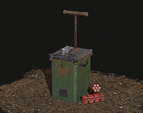 3D asset VR / AR ready Dynamite Detonator