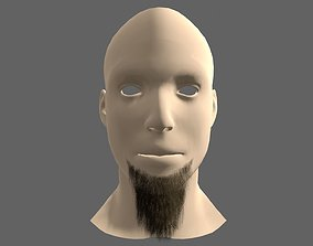 Beard Styles Messy Long 3D asset