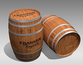 brandy 3D asset game-ready Wooden Barrel