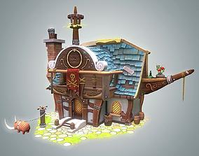 Stylized Pirate House 3D asset