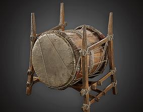 3D asset War Drum - MVL - PBR Game Ready