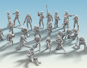 26 Figure Stormtrooper Printable Set-04 3D model