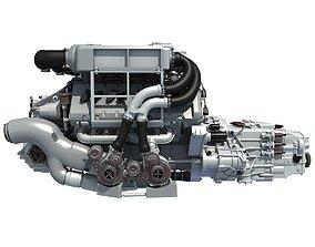 Bugatti Veyron Engine 3D