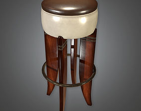 3D asset Bar Stool Art Deco - PBR Game Ready