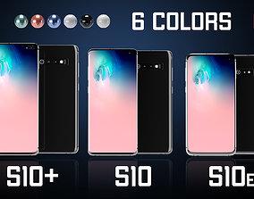 Samsung Galaxy S10 Set All Colors 3D
