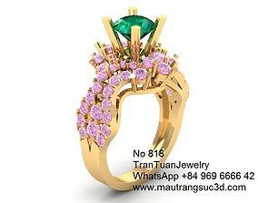 818 Diamond Ring 3D print model