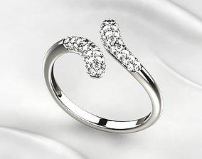 Fashion Golden Ring love 3D print model