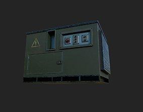 Engine Generator Old 3D model