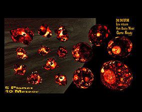3D asset realtime Lava meteor set