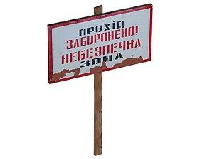 Street Sign USSR 01 01 3D asset