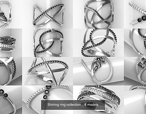 3D Shining ring collection