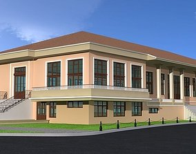 architectural CULTURE HOUSE 3D model