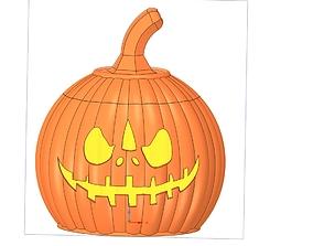 halloween pumpkin candlestick magic ritual for 3d-print 2