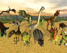 Jurassic pack 3D model